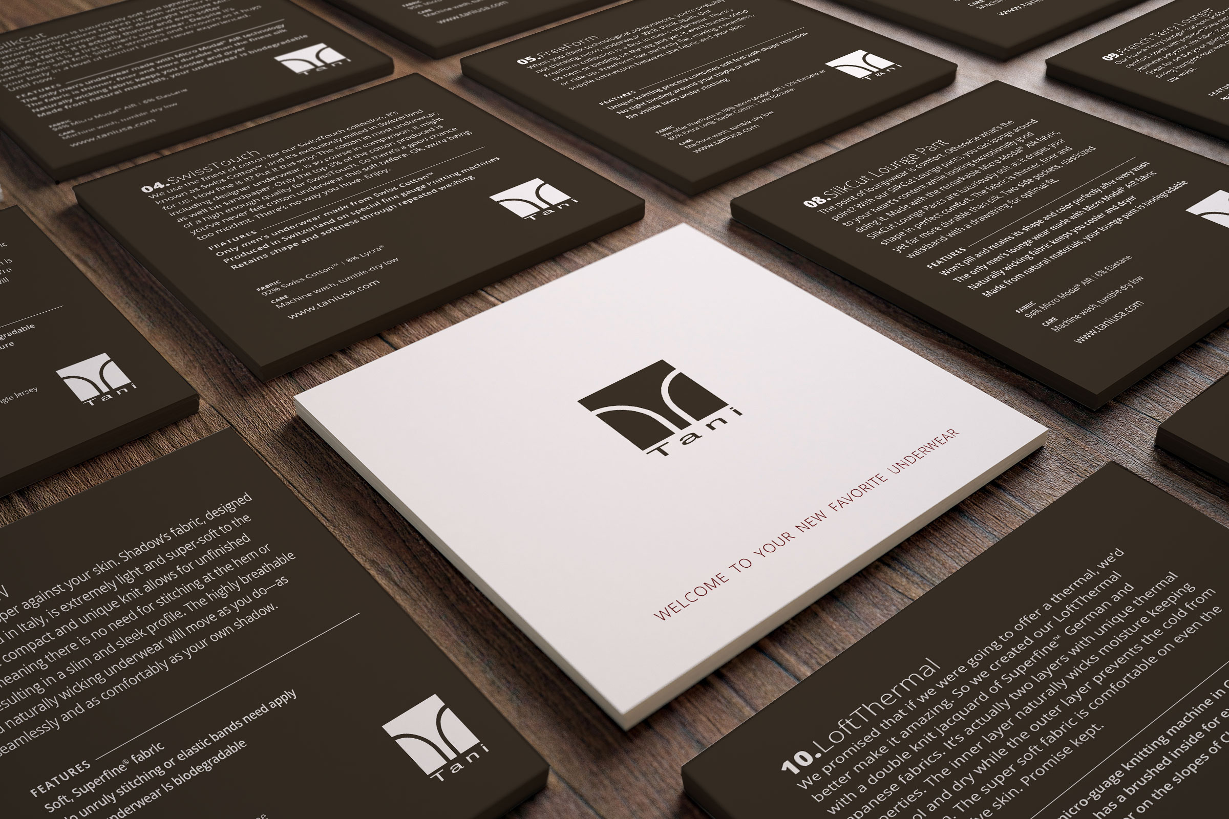 Tani Underwear Product Cards & Brand Collateral - pondSoup