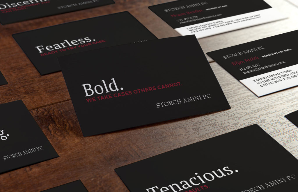 Storch Amini PC - Business Card Design